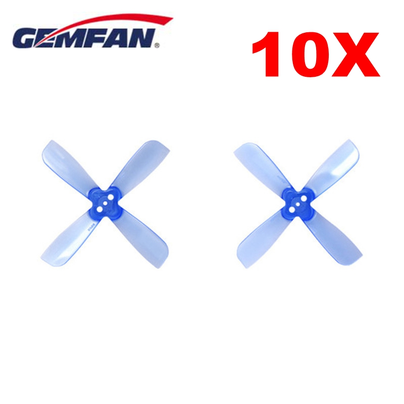 10 Pairs Gemfan 2035 2X3.5X4 4 Blade Propeller Prop 1.5mm Mounting Hole CW CCW Blue Purple Transparent for FPV RC Racing Drone gemfan 5 4 3 3d propeller ghost gold 5040 5 inch 3 blade props for racing multirotor fpv gemfan 3d master props 4 diy drone