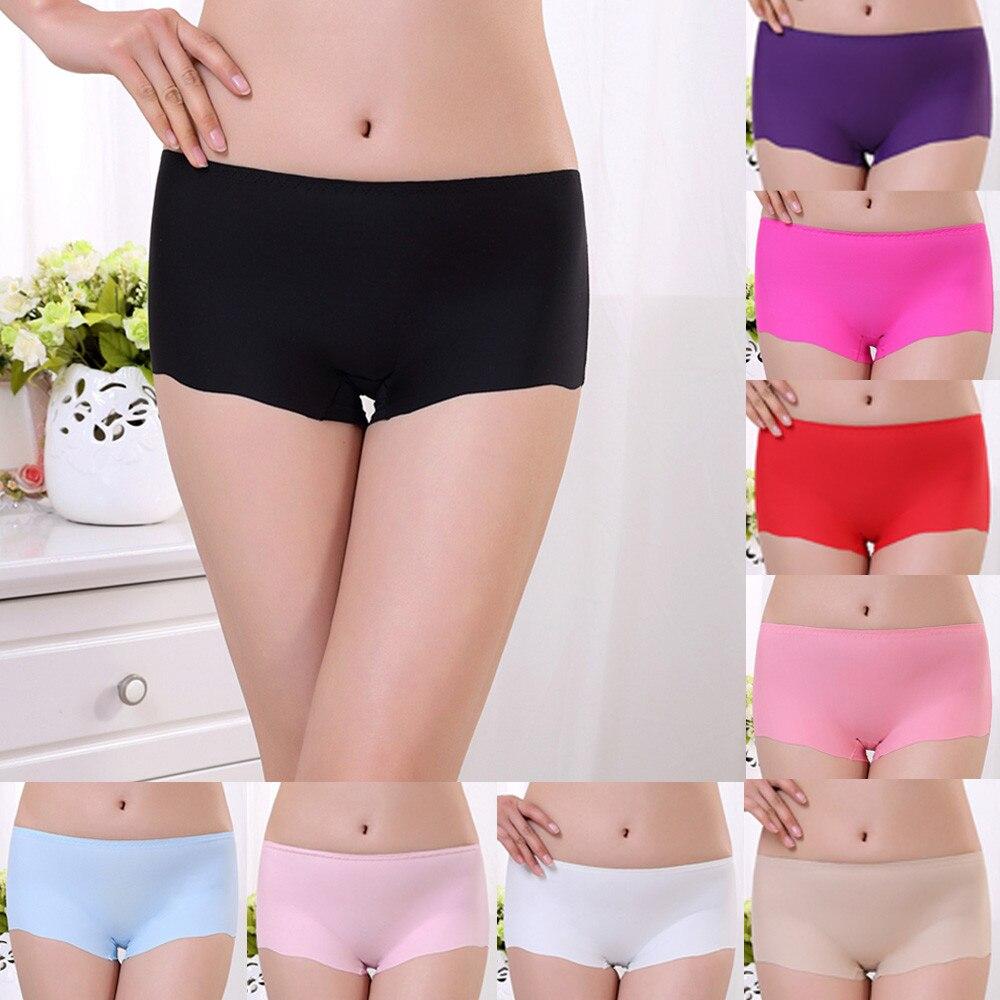37a196966 2017 High Quality Invisible Seamless Underwear Women Panties Spandex Modal Boxer  Brief Crotch Braga Ropa Interior