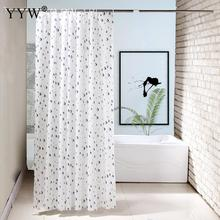 White Shower Curtain Waterproof 3d Large Curtains Polyester Bathroom Bath Screens Big