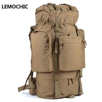 LEMOCHIC Hunting Hiking Sport Tactical Bag Military Travel Bags Outdoor Camping Mountaineering Backpack Rain Cover Waterproof