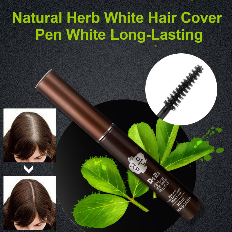 Natural Herb White Hair Cover Pen Professional White Hair Cover Long-Lasting Disposable Hair Dye Stick