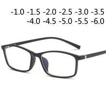 46a743fc25de Мужские Женские очки для близорукости оптические очки для рецептов черная  синяя оправа-1,0