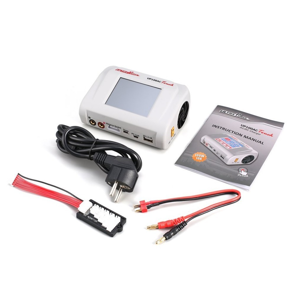 Ultra Power UP100AC Touch Screen 100 W Rc Multicopter LiIo/LiPo/LiFe/LiHv/NiCd/NiMH/Pb Charger Balance Charger/DischargerUltra Power UP100AC Touch Screen 100 W Rc Multicopter LiIo/LiPo/LiFe/LiHv/NiCd/NiMH/Pb Charger Balance Charger/Discharger