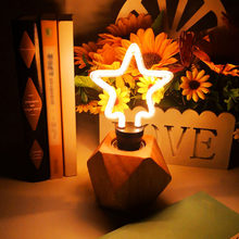 220V E27 LED Night Light Heart Star Lotus Butterfly For Party Birthday Christmas Home Wedding decoration(China)