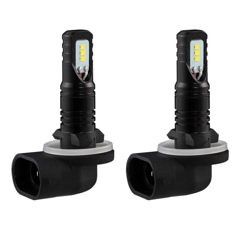 Katur 2 шт. H27 880 881 светодиодные лампы для автомобилей дневного вождения Туман огни csp чип супер яркий 6000 К белый Освещение H27W/2 H27W/1 светодиод