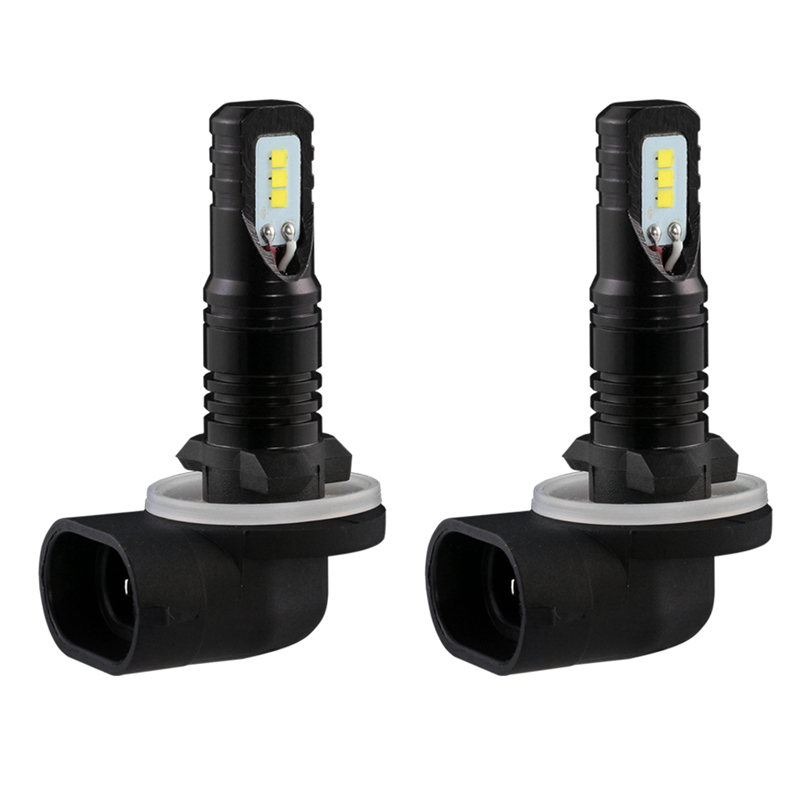 Katur 2pc H27 880 881 Led Bulbs For Cars Daytime Driving