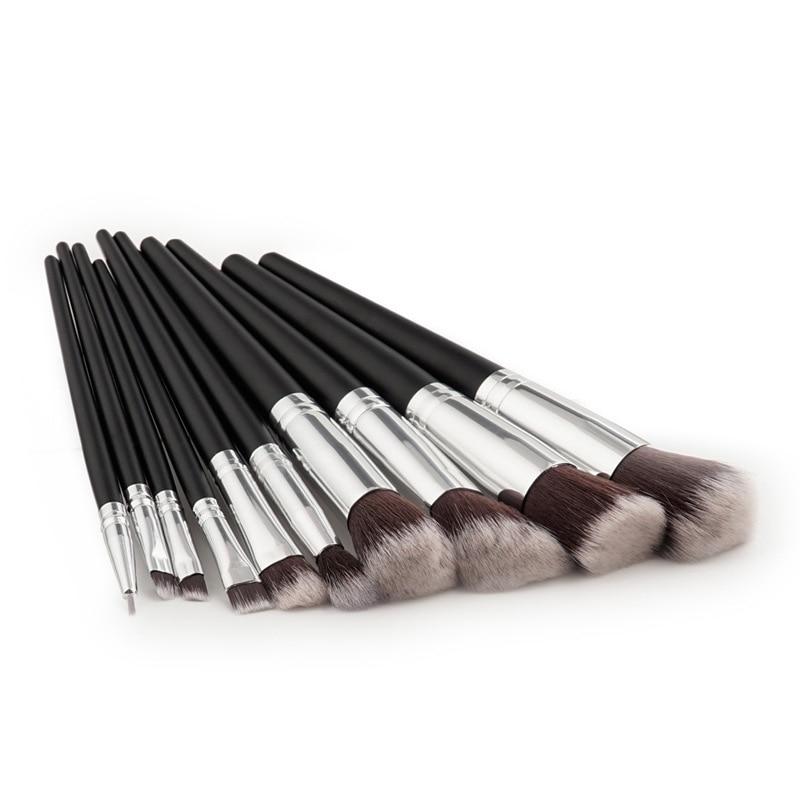 Professional 10pcs Black/Silver Brand Makeup Brushes Set Beauty Foundation Kabuki Brush Cosmetics Make up Brushes Tool Kit crystal lux подвесная люстра crystal lux emilia sp8