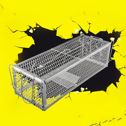 Mouse Steel Cage Animal Trap 30*12*24cm 1pcs Catch Control Cage Squirrel High Sensitivity Hamster Rat Gardening Supplies Mice