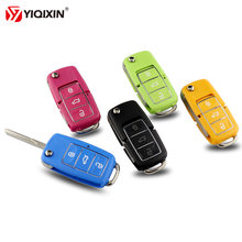 Yiqixin Новый Цвет 3 кнопки флип складной пульт дистанционного