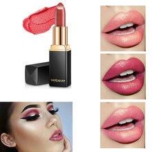 Купить с кэшбэком 2019 New Mermaid Lipstick Makeup Beauty Color changing Moisturizing Lipsticks glitter 3D finish