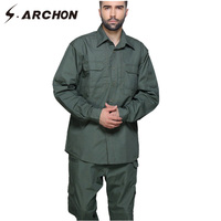 S ARCHON City Military Style SWAT Tactical Shirt Men Windproof Long Sleeve Quick Dry Army Shirt