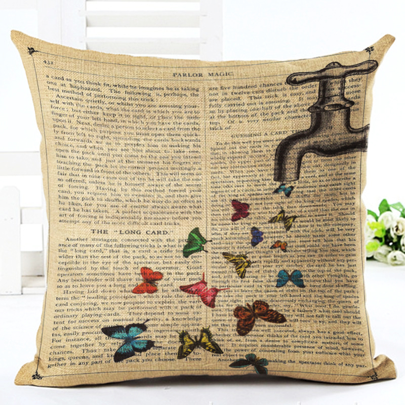 High Quality Car Printed Cotton Linen Blackout Curtain: Home Decor Text Background Butterfly Printed High Quality