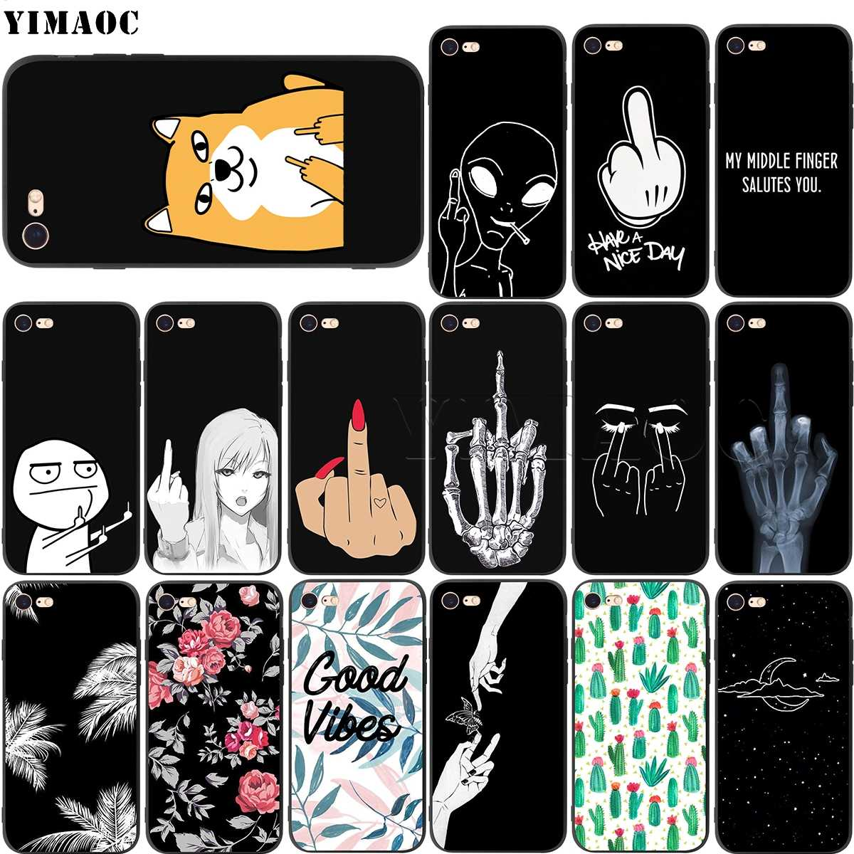 Yinuoda For Iphone 7 6 X Case Mouse Finger Have A Nice Day