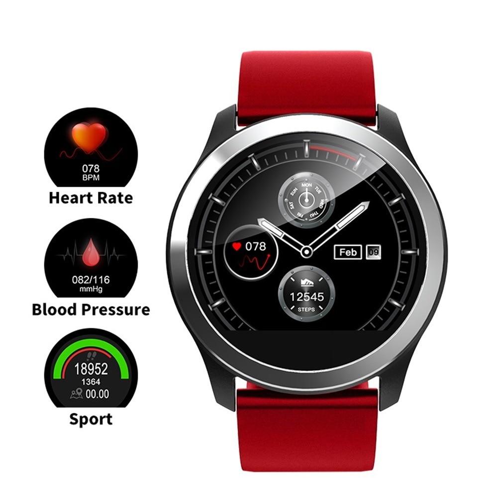 Reloj inteligente muñeca monitor de presión arterial ECG + PPG Frecuencia Cardíaca medidor de presión arterial digital rastreador de Fitness reloj inteligente resistente al agua-in Presión arterial from Belleza y salud    1