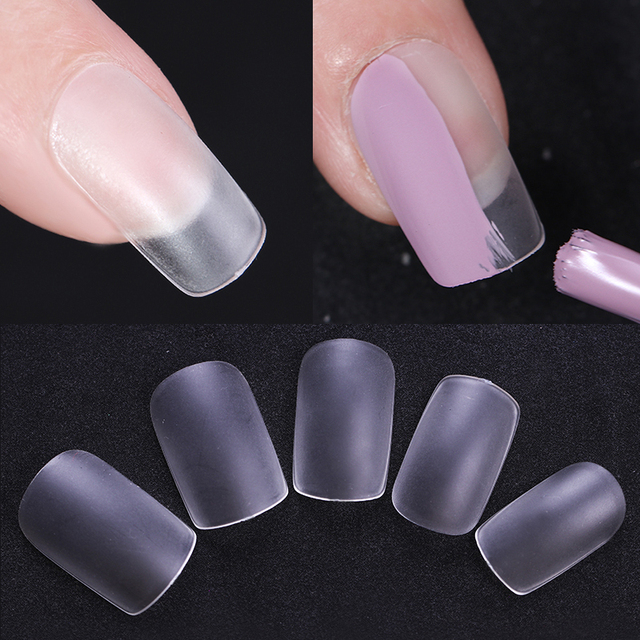240pcs Natural Ultra thin Professional False Nail Tips Round Square ...