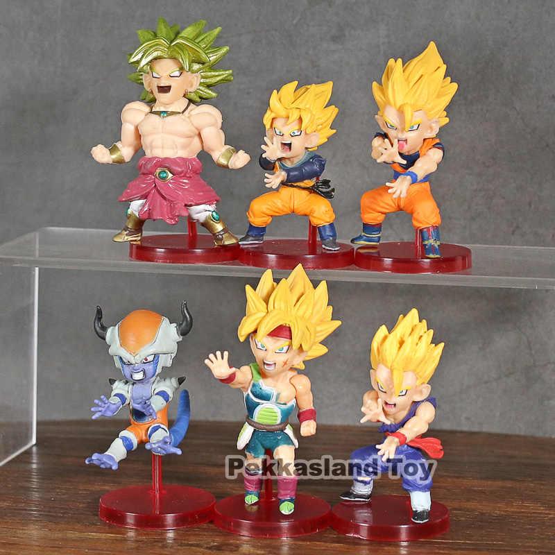 Dragon Ball Z Figura de Ação do WCF Son Goku Brolly Bardock Saiyan Son Gohan Goku Frieza Batalha Vol.4 Collectible Toy Modelo 6 pçs/set