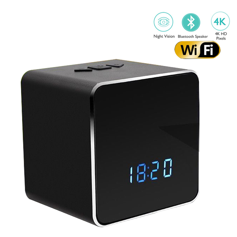 YSA 1080P H.264 Wireless Wifi Table Clock Portable Mini IP Camera Motion Detection Alarm Night Vision Bluetooth Speaker SD CardYSA 1080P H.264 Wireless Wifi Table Clock Portable Mini IP Camera Motion Detection Alarm Night Vision Bluetooth Speaker SD Card