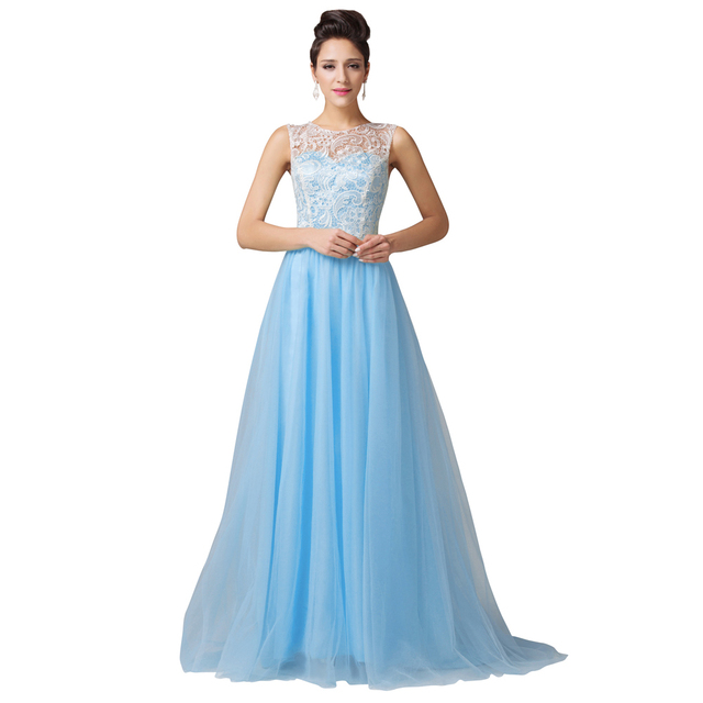 Sexy Design Fashion Women Winter ball Long Lace Evening Dresses Party Prom  Gown Floor Length Blue e6aa38472126
