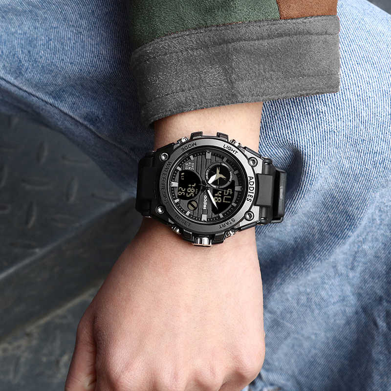 Watch Reloj Analog Digital Sports Clock Addies Watches Led For Electronic Hombre Waterproof Men Quartz 2019 I76fgyYbv