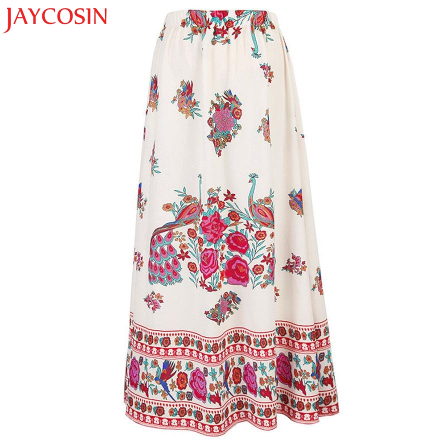 8a40c47778 JAYCOSIN Women Summer High Waist Long Skirt Boho Maxi Skirt Beach Floral  Holiday Print Skirt z0814#-in Skirts from Women's Clothing on  Aliexpress.com ...
