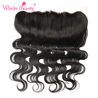 Wonder Beauty Brazilian Body Wave Remy Hair Hand Tied 13 X 4 Lace Frontal Ear To