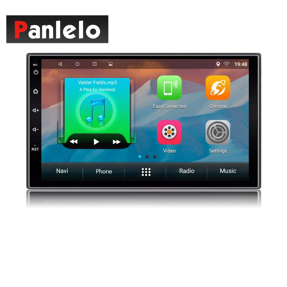 купить Panlelo S2 2 Din Android Head Unit Car Multimedia Player GPS Navigation Auto Radio (AM/FM/RDS) Mirror Link Bluetooth SWC Music по цене 9594.46 рублей
