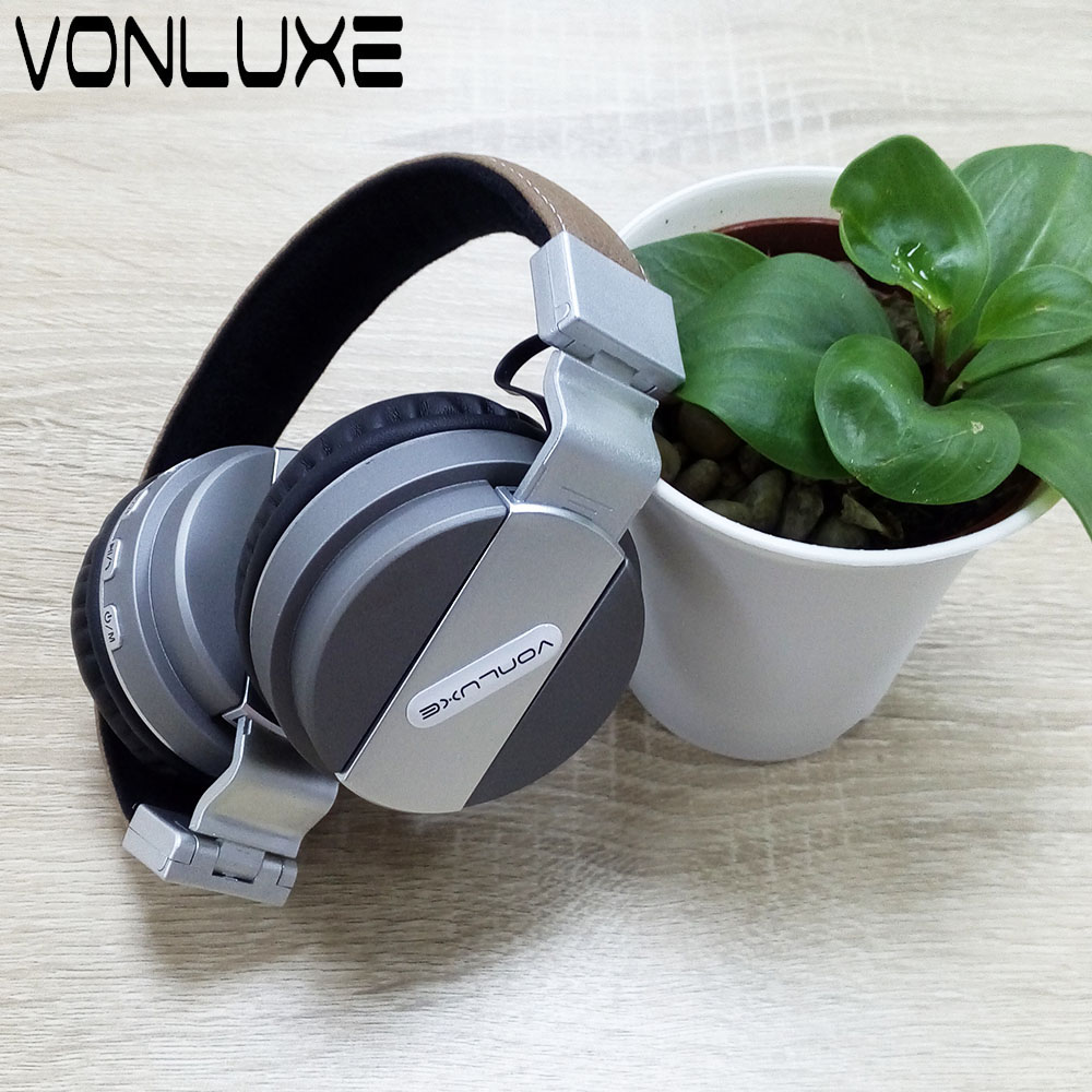 ФОТО Vonluxe Foldable Headphone Headset with Microphone Gaming Headset Bluetooth 4.0 Headphones for Pc Computer for Phones