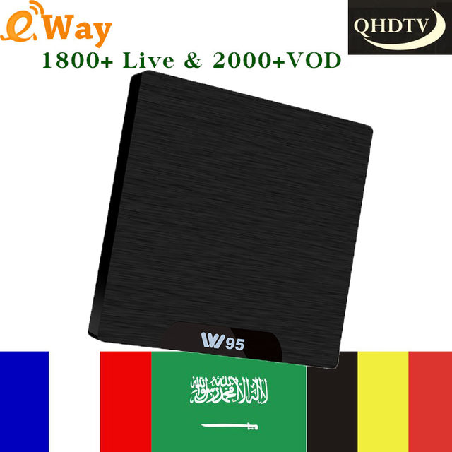 US $64 52  Aliexpress com : Buy France iptv subscription with W95 1G 8G  android tv box best smart ip tv box 1800 4K live+VOD+Belgium Arabic Morocco