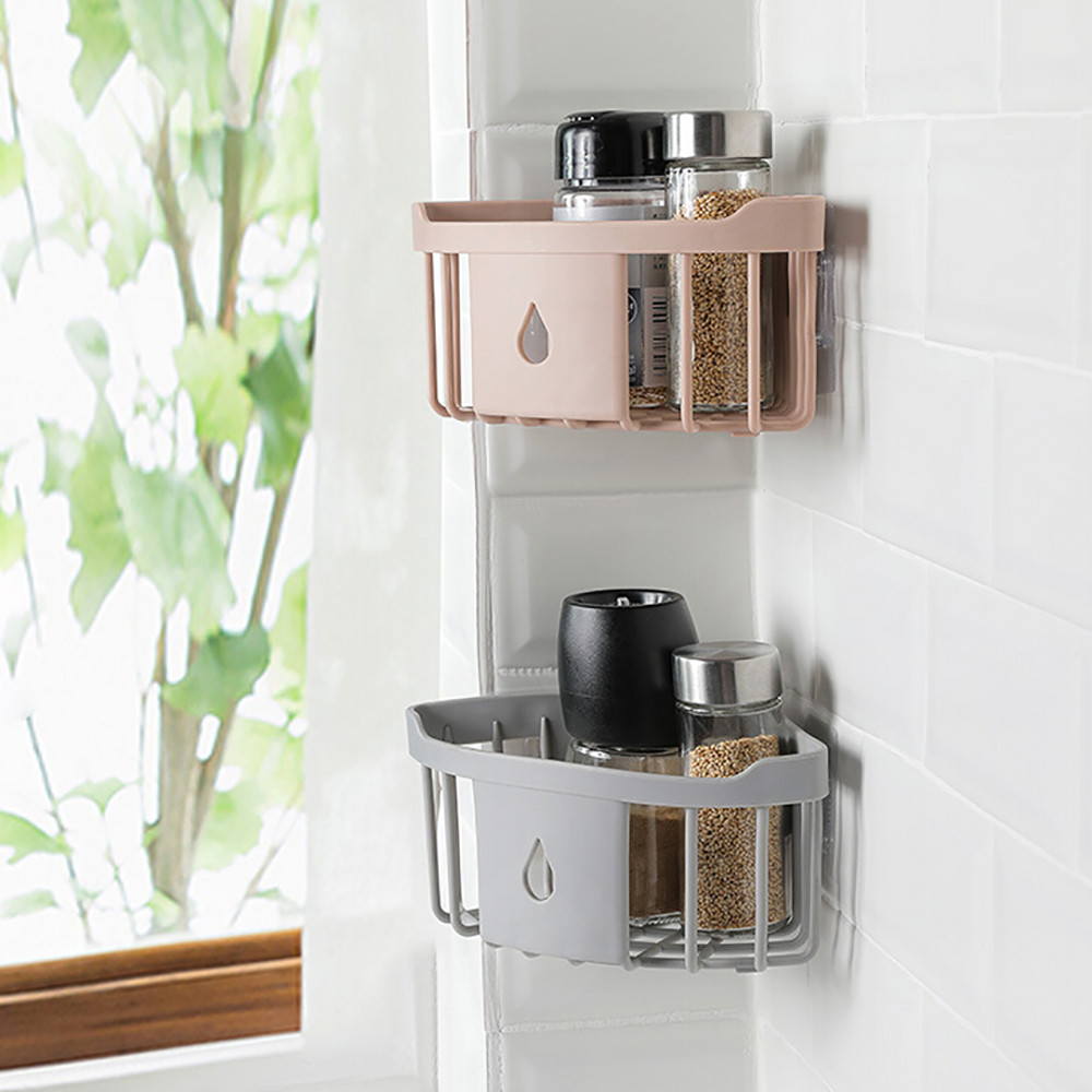 Rack-Organizer Suction-Shelf Bathroom-Storage Plastic -35 Practical