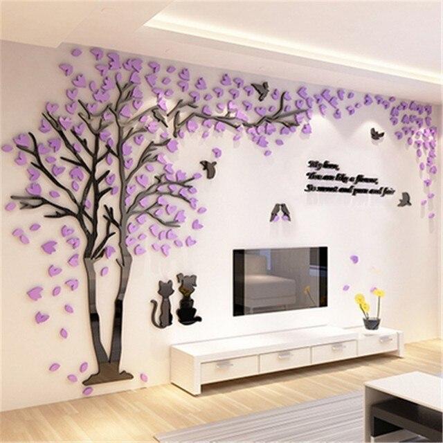 Kreatywny Kilka Drzewa Naklejki 3d Akryl Stereo Naklejki