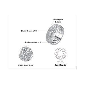 Image 5 - JewelryPalace CZ anillos de boda 925 anillos de plata esterlina para mujeres apilable anillo aniversario anillo eternidad banda joyería de plata 925