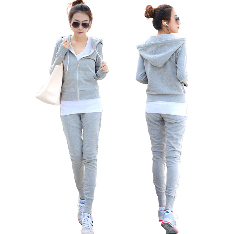 Spring Autumn Tracksuit Long Sleeve Sweatshirts Casual Women Clothing 3 Piece Sets Women Shirt+Coat+pants Sporting Suit Female
