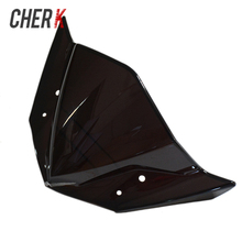Cherk Motorcycle Black ABS Windshield WindScreen Double Bubble For Yamaha FZ16 2014 2016 2015 04 05 06 Motorcycle Accessories