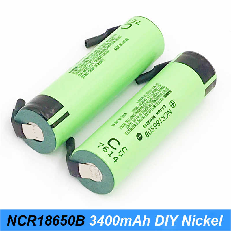 New original NCR18650B 3.7V 3400mAh 18650 rechargeable lithium battery for 12v electric screwdriver set + thick welded strips AU