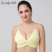 Ladychili Women Intimates XS XL Large Size Big Breast Seamless Underwire Free Triangle Cup Bra Thin