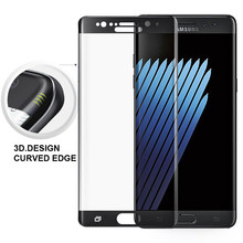 "YKSPACE 5.7 ""HD 9H 3D Gebogene rand Vollen abdeckung Screen Protector Film Gehärtetes Glas Für Samsung Galaxy Note fan Edition 7 FE Note7(China)"