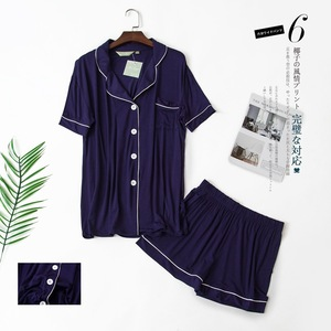 Image 2 - Conjunto de pijama corto para hombre y mujer, ropa de dormir Sexy coreana, de manga corta, para verano