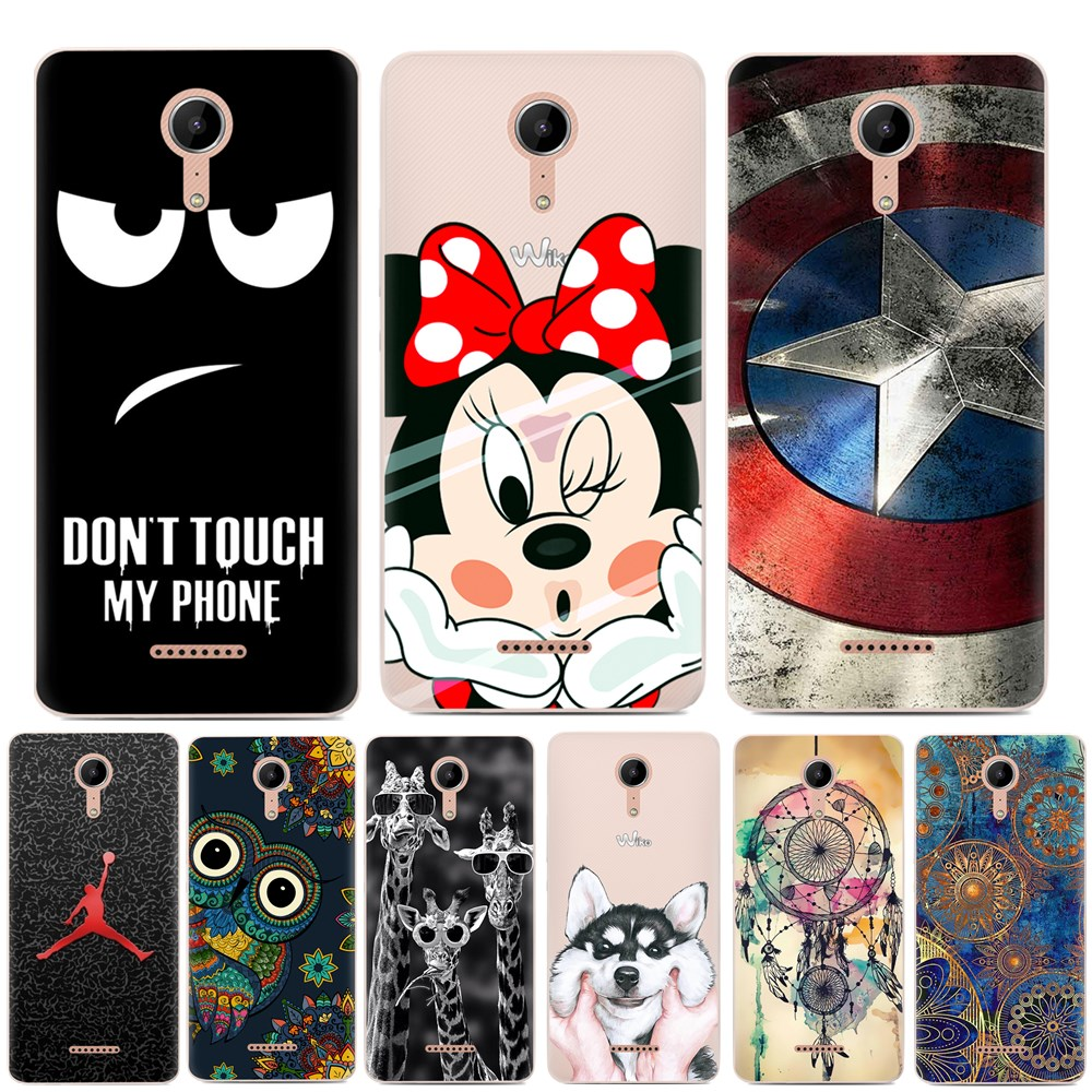 Phone Case For Wiko Tommy 3 Case Silicone Cartoon 3D Relief TPU ...