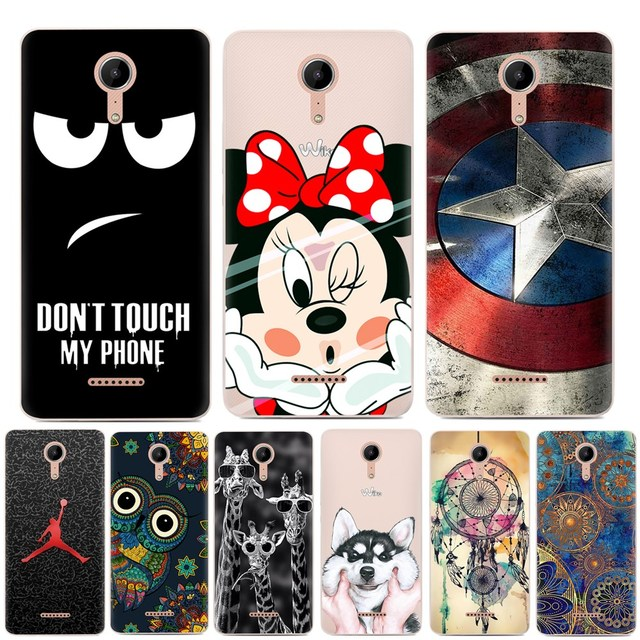 For Coque Wiko Tommy 2 Case Luxury Cartoon TPU Case For fundas Wiko Tommy2 Soft Silicone Phone Protective Back Cover Skin