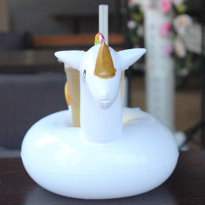 12pcs Mini Jednorog piće Plutajući napuhavanje držač za čaše - Sportovi na vodi - Foto 3