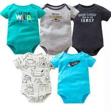 5 PCS/LOT Baby Bodysuits Cotton Infant Jumpsuit Short Sleeve Newborn Baby Clothi