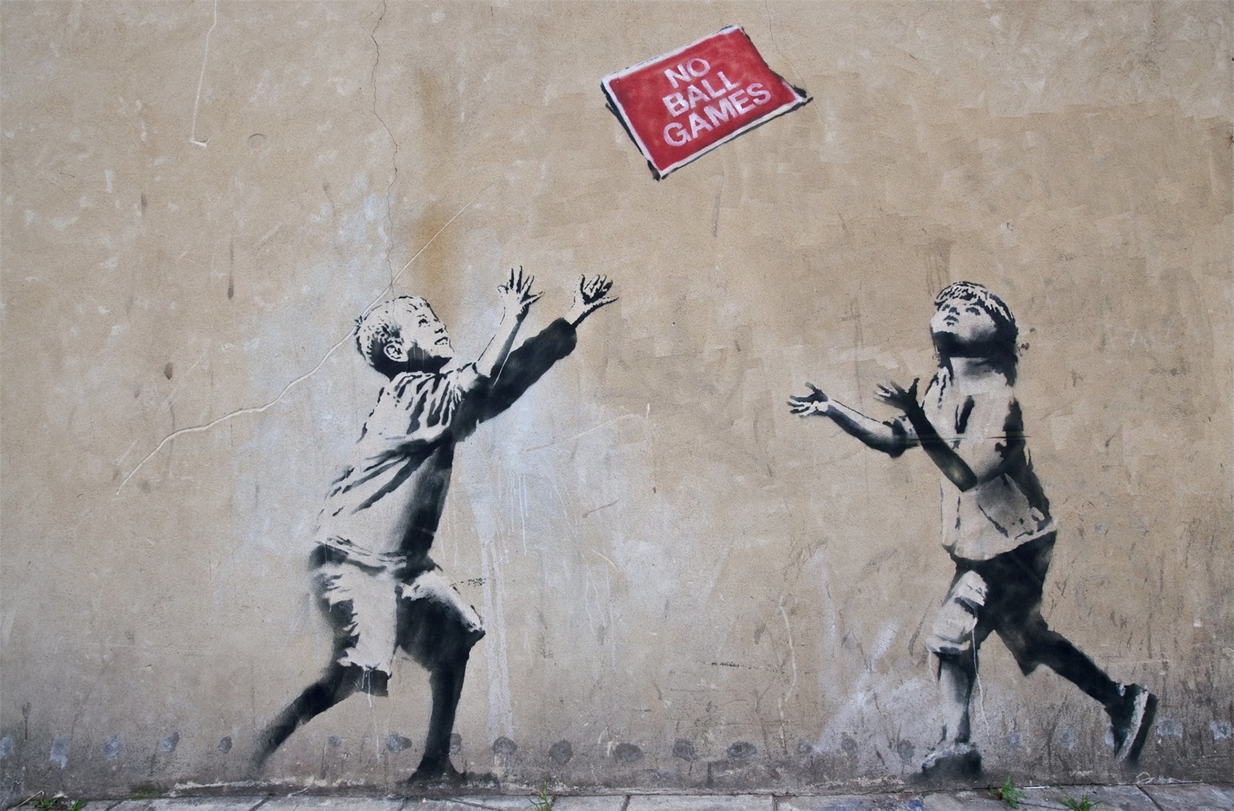 Banksy Kids No Ball Games Peace Hope Wall Painting Street Artwork Graffiti Wall Art Posters and Prints Cuadros Decoracion Quotes