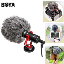 BOYA BY-MM1 видеокамера Микрофон YouTube vlogging записи mic для Canon Nikon Sony DSLR для IPhone смартфон Huawei