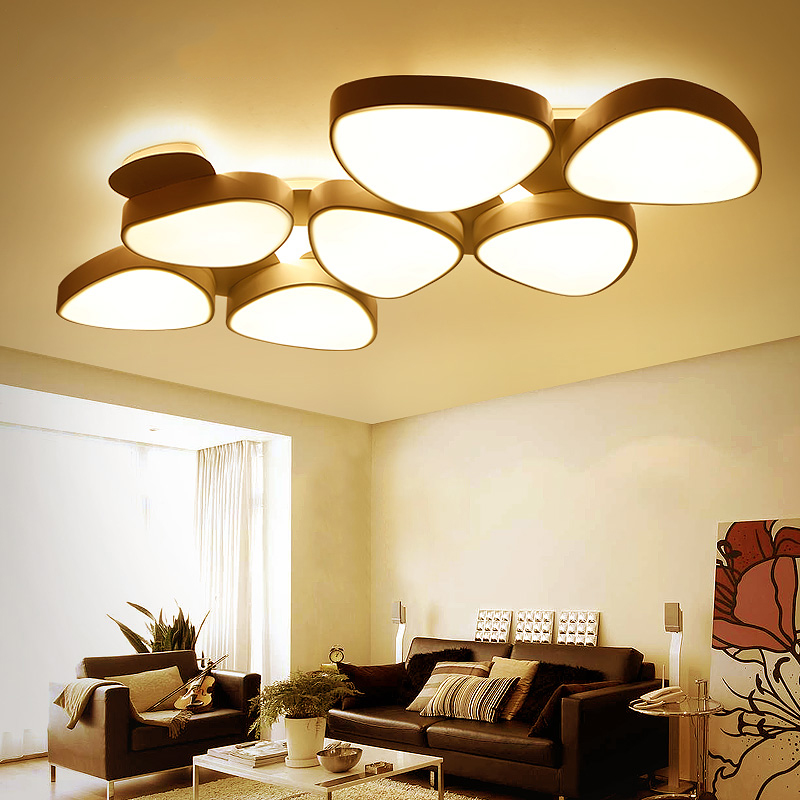 Nordic living room ceiling lights creative personality LED lighting postmodern simple warm fixtures bedroom lamps creative star moon lampshade ceiling light 85 265v 24w led child baby room ceiling lamps foyer bedroom decoration lights