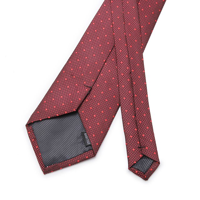 2018 New Arrival Dot  Men's Tie Cravata Brand Popular Polyester Neckties Tie For Wedding Fashion Business Shirts Ties For Party