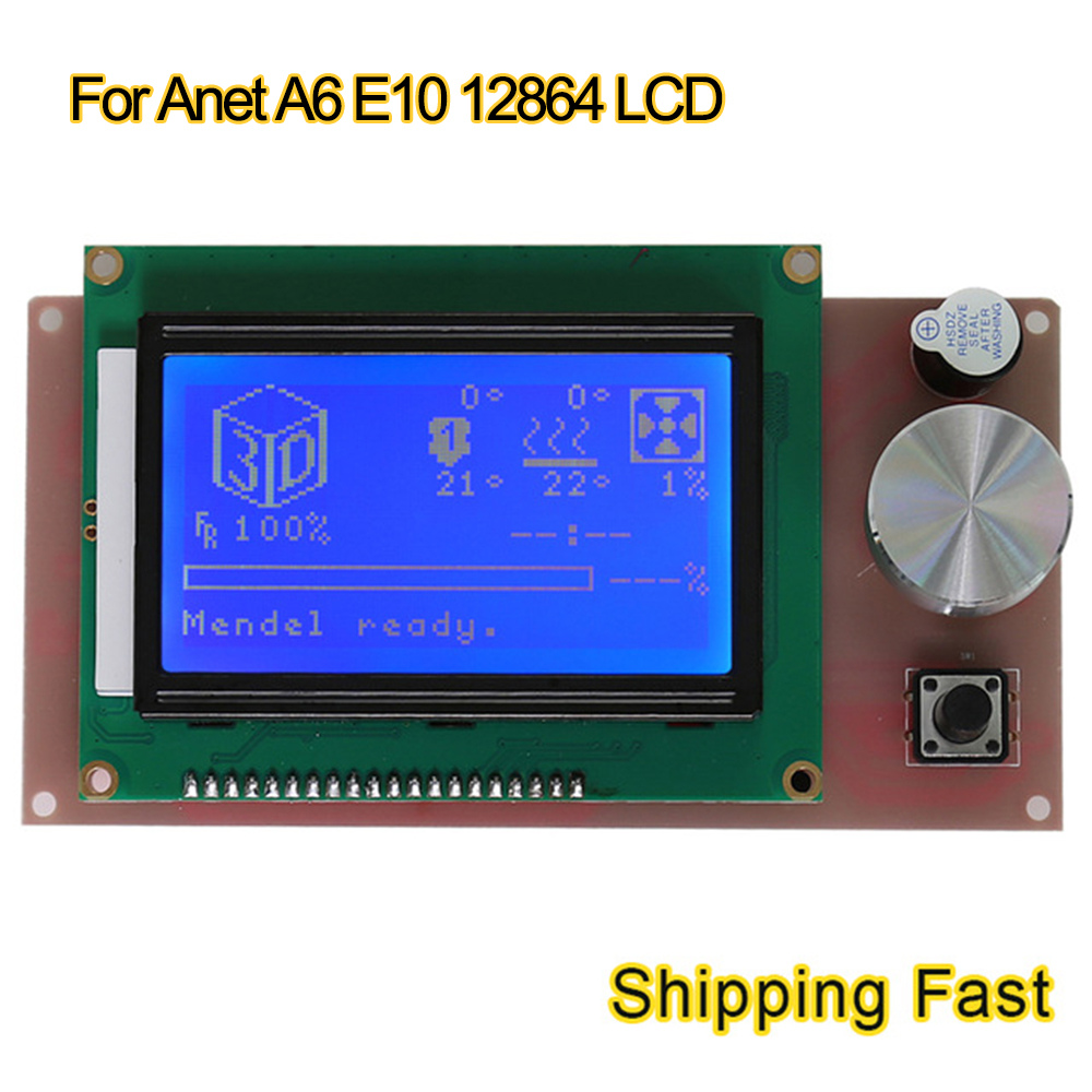 US $17 09 5% OFF Anet a6 e10 12864 LCD display Smart Screen Controller  Module Flexible Flat Ribbon Cable for 3d printer RAMPS 1 4 Arduino parts-in  3D