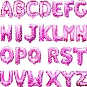 16 дюймов розовое цвета: золотистый, серебристый синий розовый буквы алфавита для детей День рождения украшения из фольги Воздушные шары свадебные принадлежности|supplies party|supplies wedding  | АлиЭкспресс