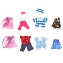 5 conjunto mini para ou para chelsea boneca roupa bonito artesanal roupas vestido bonito presente meninas amor brinquedo do bebê escolha aleatória