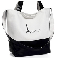 2014 New Women Shoulder Bags Fashion Shouler Bags Summer Hot Tower Package Neutral Canvas Bag Women