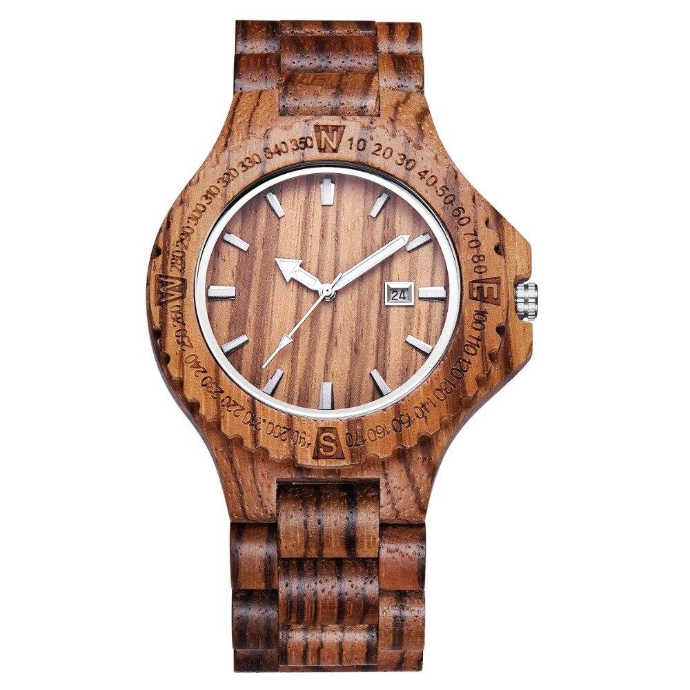 mood keskkonnasõbralik punane sandaalipuu tervise kellad Uwoodi - Meeste käekellad